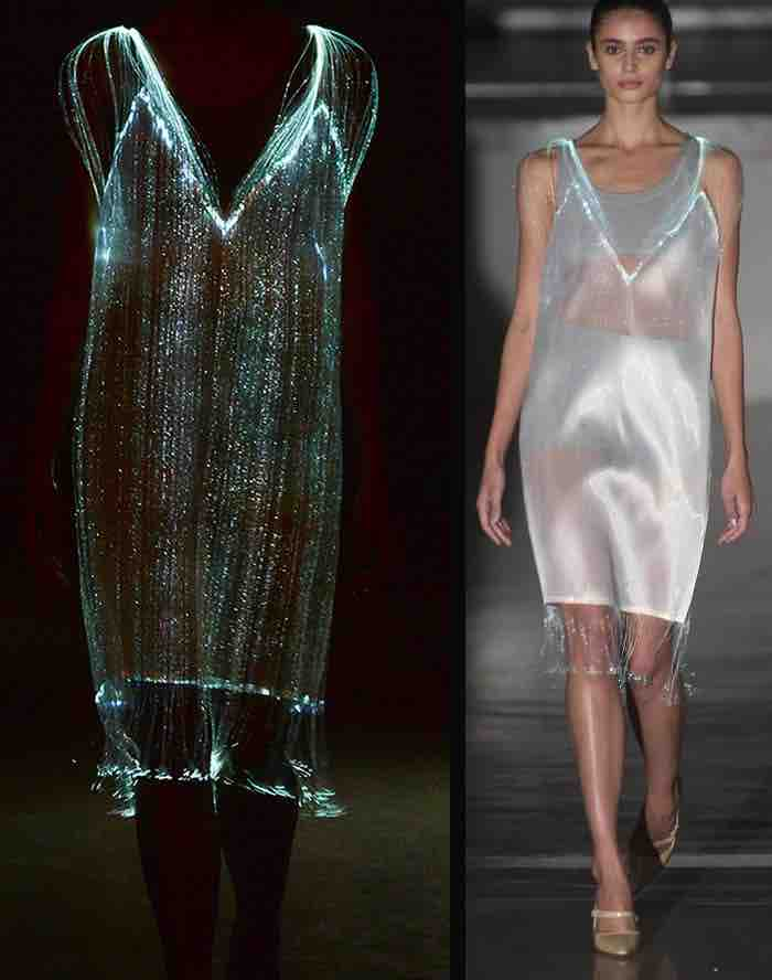 L'abito del futuro è in grafene: LED cuciti cambiano colore in base al respiro