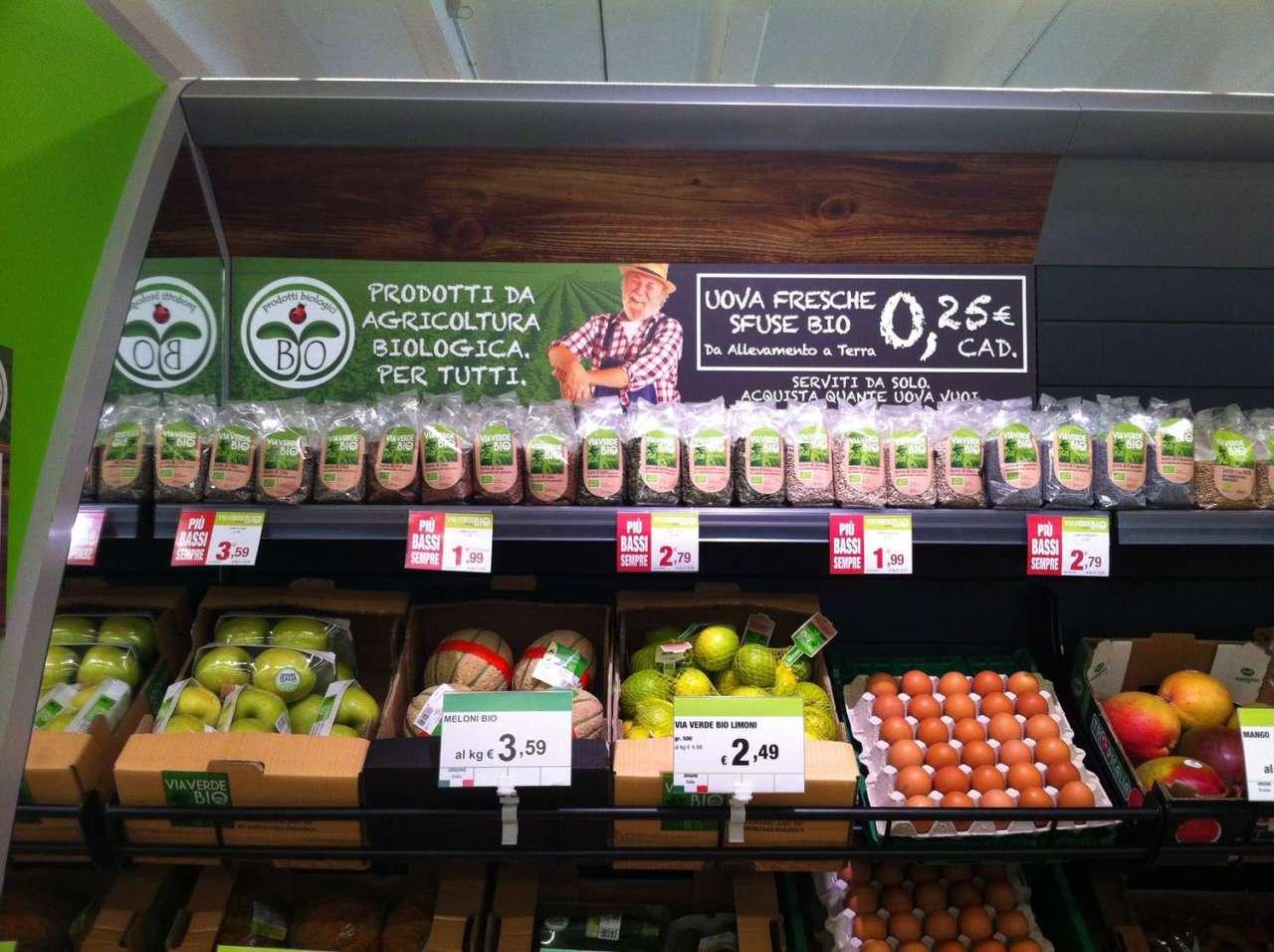 prezzi prodotti bio calo